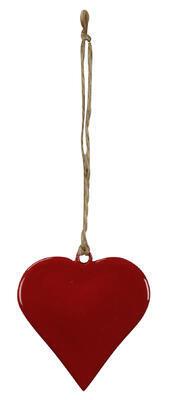 Srdce - závesná dekorácia 6,5x6,5cm + 9cm špagát