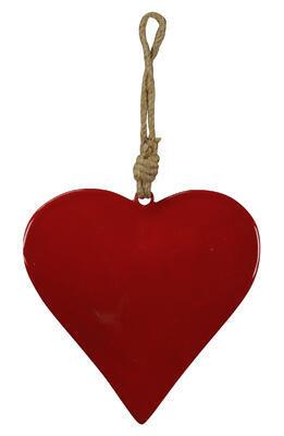 Srdce - závesná dekorácia 15x15cm + 15cm špagát