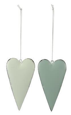 Srdce - závesné srdiečko 6,5x12cm, zelené
