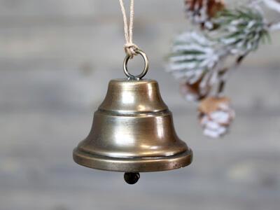 Zvonček závesná dekorácia 4,5cm x 5cm - 1