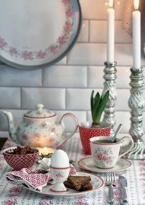 GreenGate čajník Flora white - 2