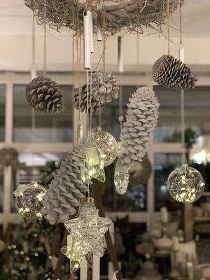 Vianočná hviezda s LED svetielkami - 2