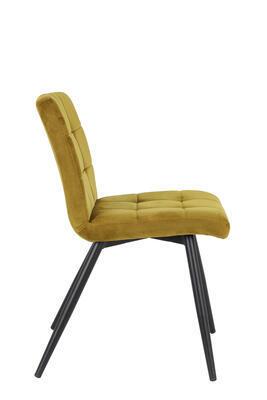 Jedálenská stolička OLIVE velvet ocher-black - 2