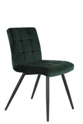 Jedálenská stolička OLIVE velvet dark green-black - 2