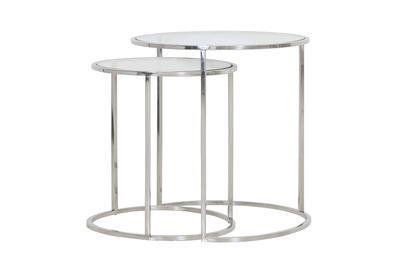 Stolík DUARTE nikel-glass, veľký Ø50cmx 52cm - 2