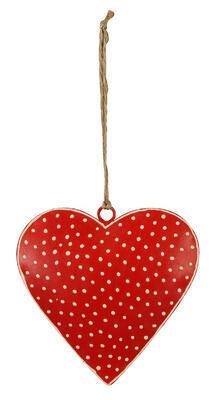 Srdce - závesná dekorácia 6,5cm alebo 12cm, rozmer 12cm x 12cm - 2