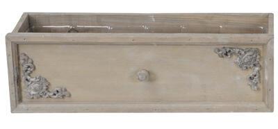 Šuflík drevený - obal na rastlinu 42x15x12cm - 2