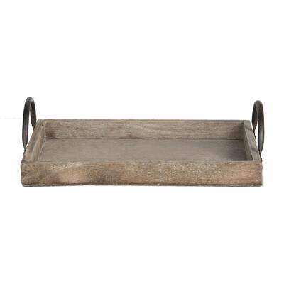 Tácka/ podnos drevo/kov 30*20*3 / 25*16*3 / 20*12*3 cm, malá 20*12*3 cm - 2