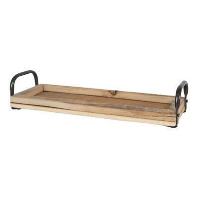 Tácka/ podnos drevo/kov 41*14*7 cm - 2