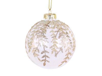 Vianočná guľka sklenená 8cm - 2
