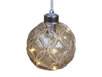 Vianočná guľka s LED svetielkami 8cm - 2