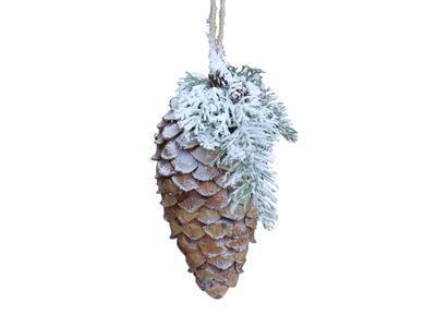 Vianočná šuška prírodná  závesná dekorácia priemer 10cm x18cm - 2
