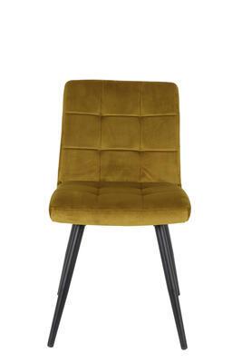Jedálenská stolička OLIVE velvet ocher-black - 3
