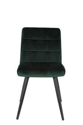 Jedálenská stolička OLIVE velvet dark green-black - 3