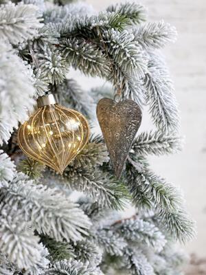 Srdce - závesná dekorácia 10cm x7,5cm x 1,5cm - 3