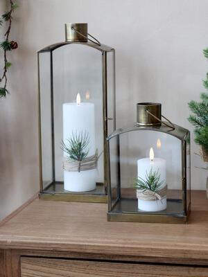 Svietnik, lampáš, lucerna výška 40cm/ 31,5cm/ 23,5cm - 3