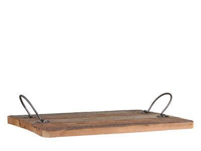 Tácka/ podnos drevo/kov 30cm x 40cm x 2cm - 3