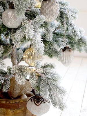 Vianočná guľka sklenená 7cm - 3