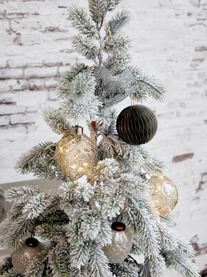 Vianočná guľka s LED svetielkami 8cm - 3