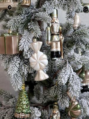Vianočná guľka cukrík 13,5cm x 6cm x 5cm - 3