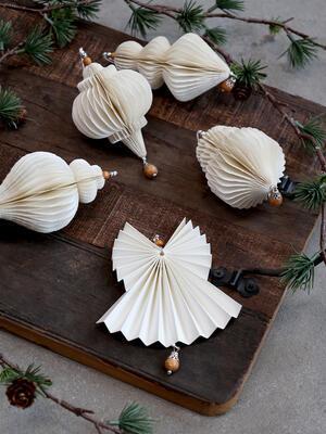 Vianočná origami ozdoba anjel 7cm x 8cm - 3