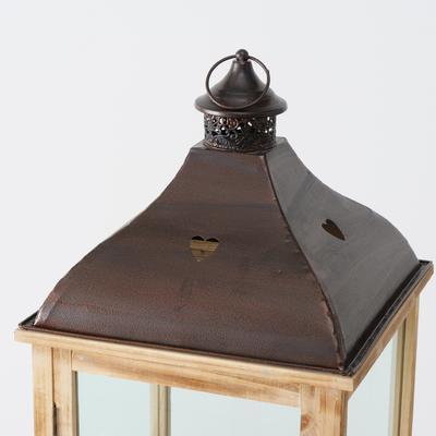 Lampáš - Bozen - svietnik s kovovou strechou, výška 123cm - 4