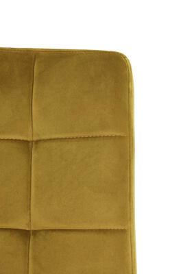 Jedálenská stolička OLIVE velvet ocher-black - 4