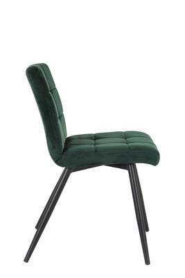Jedálenská stolička OLIVE velvet dark green-black - 4
