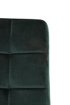 Jedálenská stolička OLIVE velvet dark green-black - 6